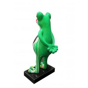 Statue grenouille debout