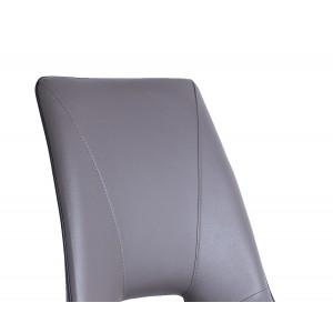 Chaise design moderne simili TAUPE - piétement design acier noir - Elégante et confortable - VOGUE