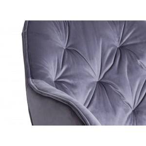 Chaise / fauteuil pivotant velours gris - piétement métal - design contemporain -STAR