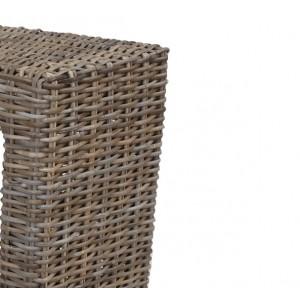 Console tressée en kubu naturel - style osier rotin exotique classique chic - HAWAï