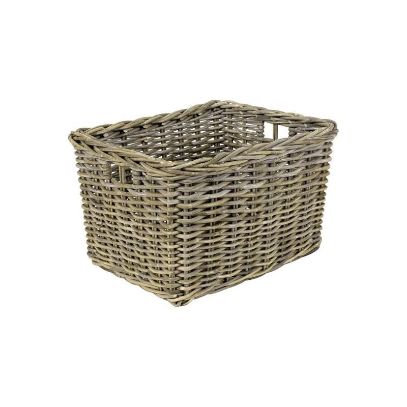 Panier rectangulaire en kubu tressé naturel  - rangement style campagne rustique bohème chic - PAROS 02
