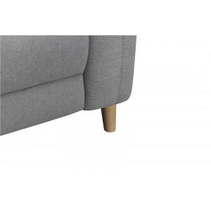Canapé relaxation 2.5 places tissu gris motorisé - style  scandinave - Qualité Premium Relax - POLO