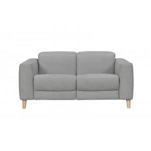 Canapé relaxation 2 places tissu gris motorisé - style  scandinave - Qualité Premium Relax - POLO