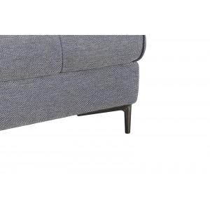 Canapé d'angle droit Tissu Gris contemporain  - dossiers réglables -  Qualité Premium Confort & Design - SATURNE
