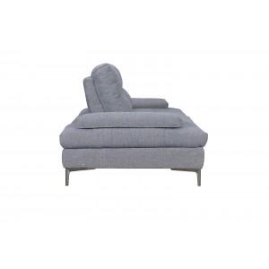 Canapé 2 places Tissu gris contemporain - dossiers réglables -  Qualité Premium Confort & Design - SATURNE