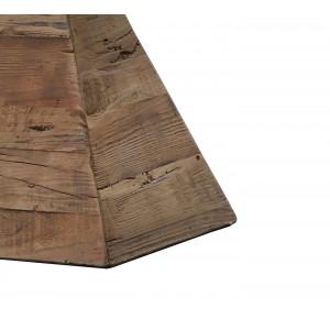 Sellette décorative / porte-plante en pin recyclé - objet déco montagne rustique -  Collection CHALET