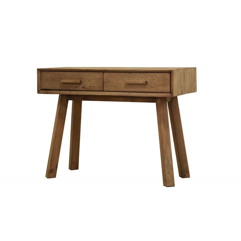 Console 2 tiroirs en pin recyclé - meuble déco montagne rustique - Collection CHALET
