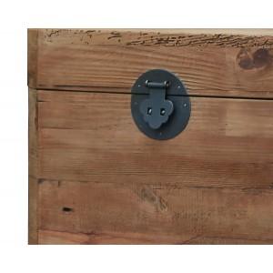 Coffre cube  en pin recyclé - style esprit montagne rustique - Collection CHALET