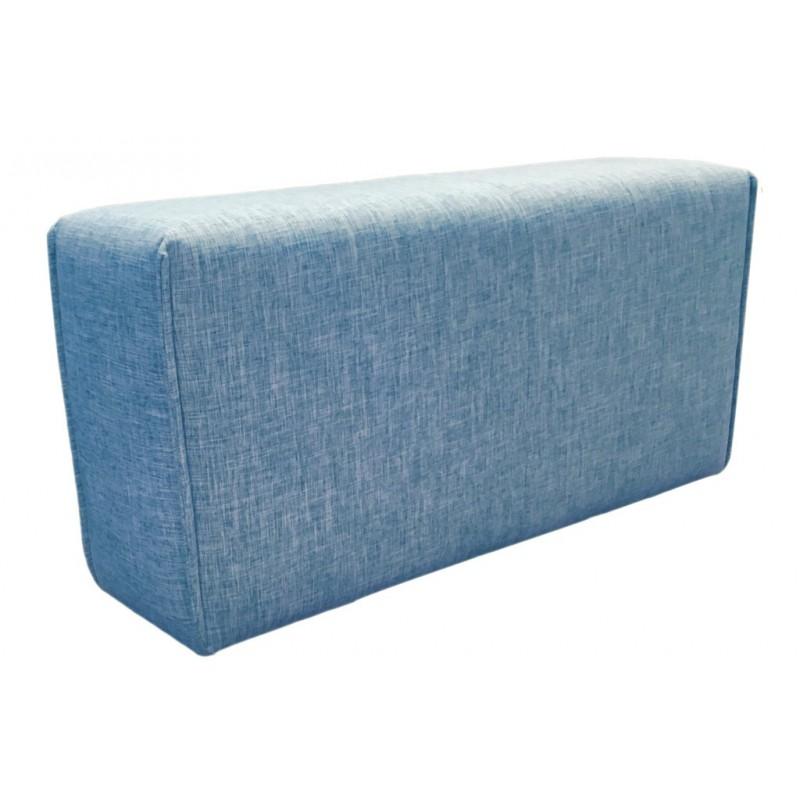 Accoudoir en tissu bleu -  module pour canapé composable - Style contemporain -  MODULO