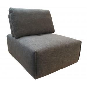 Chauffeuse réglable en tissu gris anthracite -  module pour canapé composable - Style contemporain -  MODULO