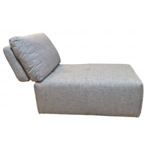 Chauffeuse réglable en tissu gris clair  -  module pour canapé composable - Style contemporain -  MODULO