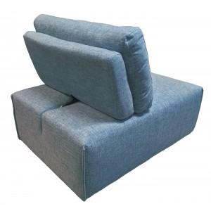 Chauffeuse réglable en tissu bleu -  module pour canapé composable - Style contemporain -  MODULO