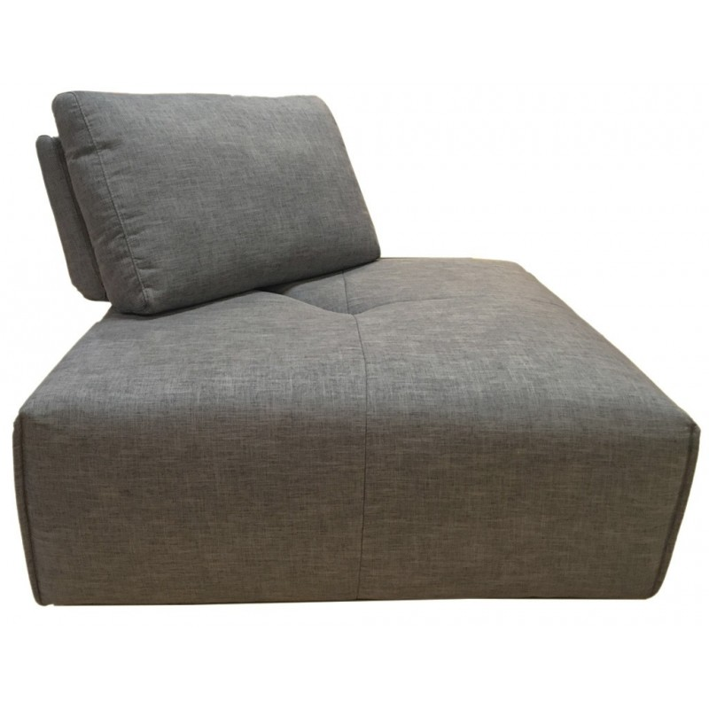Angle réglable en tissu gris anthracite - module pour canapé composable - Style contemporain -  MODULO