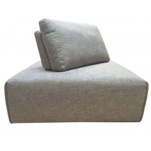 Angle réglable en tissu gris clair  - module pour canapé composable - Style contemporain -  MODULO