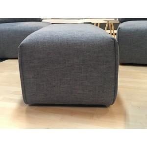 Pouf en tissu gris anthracite - module pour canapé composable - Style contemporain -  MODULO