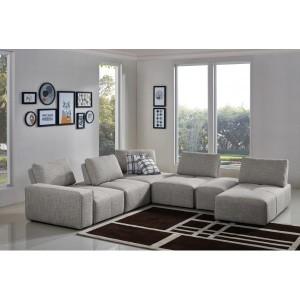 Méridienne en tissu gris clair - module pour canapé composable - Style contemporain -  MODULO