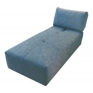 Méridienne en tissu bleu - module pour canapé composable - Style contemporain -  MODULO