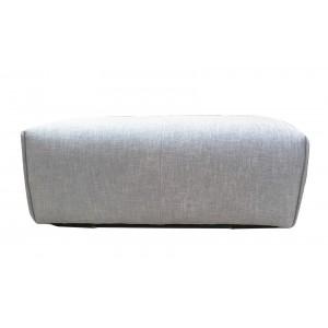 Pouf en tissu gris clair - module pour canapé MODULO