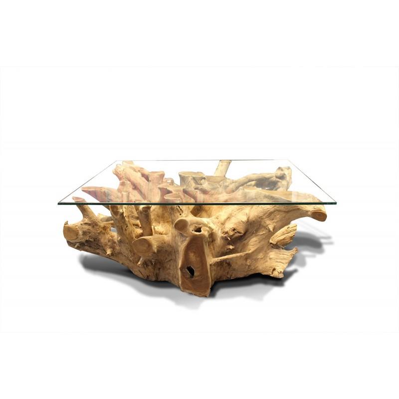 Ganesh De Racine Table Basse Teck Yyf67gvb