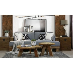Table basse ronde 90 cm - Collection CHALET