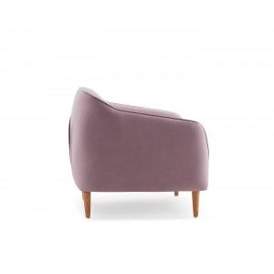 Fauteuil en tissu rose confortable - design scandinave vintage - ERIKA