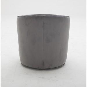 Fauteuil en tissu velours gris pivotant Qualité & Confort - design lounge contemporain - SOPHIA