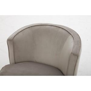 Fauteuil en tissu velours beige pivotant Qualité & Confort - design lounge contemporain - SOPHIA
