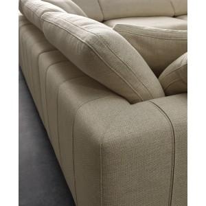 Module Angle tissu beige pour canapé composable garnissage plume - Collection Nature & Confort Premium - NUAGE