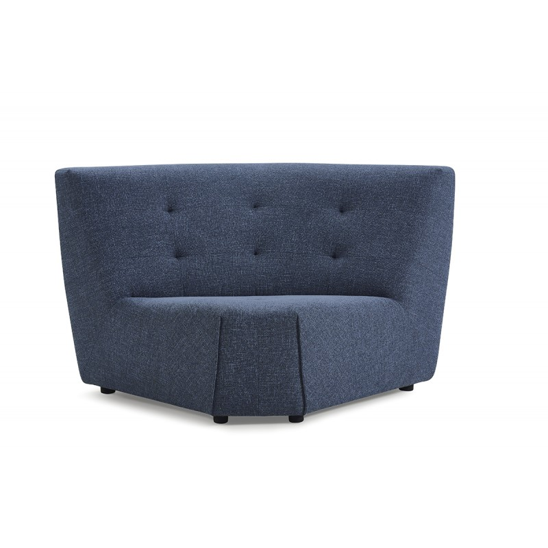 Angle module pour canapé composable tissu bleu - design contemporain - ORIGAMI