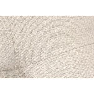 Pouf module pour canapé composable tissu blanc beige - design contemporain - ORIGAMI