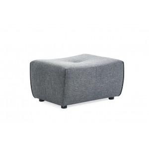 Pouf module pour canapé composable tissu bleu - design contemporain - ORIGAMI