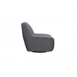 Fauteuil pivotant tissu gris anthracite Confort & Qualité - design contemporain - NIKKO