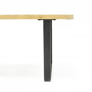 Table de repas 160 cm chêne Massif et métal - Design Industriel Factory - FABRIK