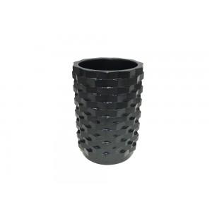 Set 3 accessoires salle de bain en PPolyrésine et base minérale  noir - WENDY
