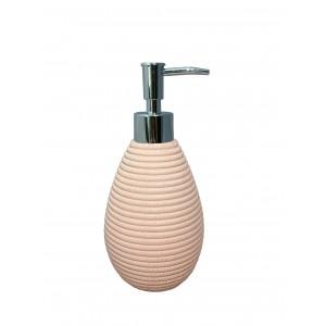 Set 3 accessoires salle de bain en Polyrésine et base minérale rose - SARA