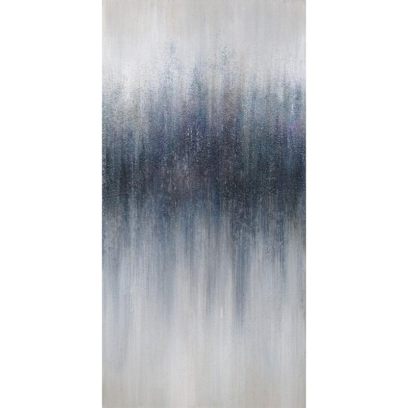 Peinture sur toile 140 cm cadre décoratif mural bleu - EVANESCENCE