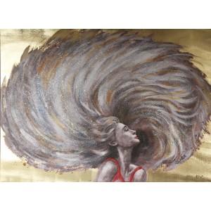 Peinture sur toile 120 cm cadre décoratif mural - WEELNESS