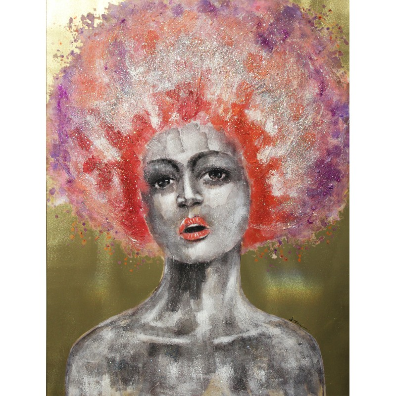 Peinture sur toile 120 cm cadre décoratif mural - SWEET QUEEN