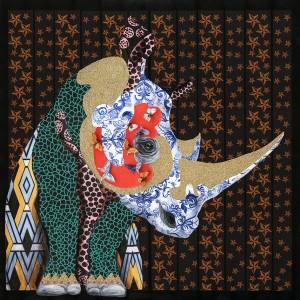 Peinture sur toile 100 cm cadre décoratif mural multicolore - REGARD