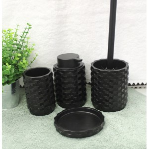 Set 4 accessoires salle de bain - WENDY