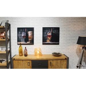 Tableaux impression photographique cave & vin en verre acrylique - VIN ROUGE