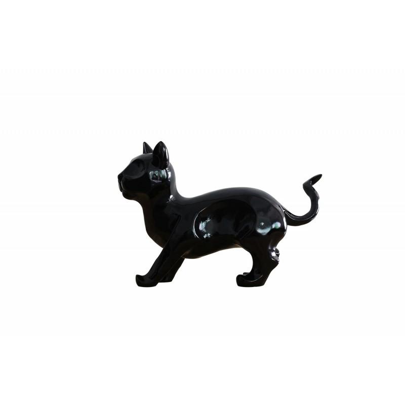 Sculpture chat noir en résine - CAT black