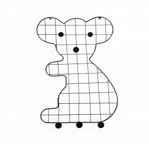 Porte-photos et accroches murales décoratives en métal ours - décoration chambre enfant - BEAR