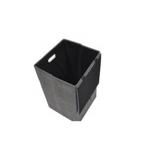 Boite de rangement pliable gris avec couvercle - rangement salle de bain, dressing, chambre - LUC