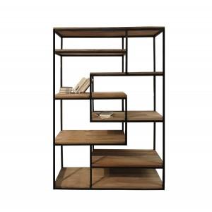 Etagère / bibliothèque industrielle en bois et métal - design vintage factory - KAYA