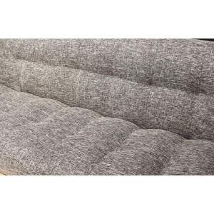 Canapé gris 3 places convertible lit - système clic-clac pratique et confortable - charly