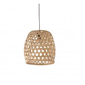 Suspension en bambou tressé  - Luminaire design scandinave bohème chic  - Luz /M