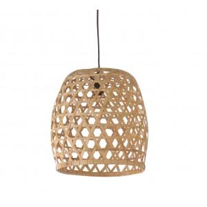Suspension en bambou tressé  - Luminaire design scandinave bohème chic  - Luz /L