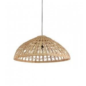 Suspension en bambou tressé large - Luminaire design scandinave bohème chic  - Tulum