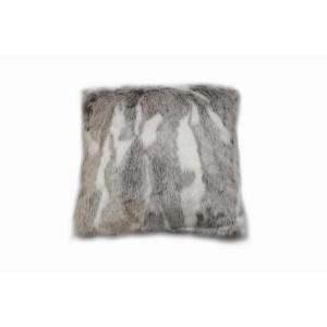 Coussin en fausse fourrure blanc et marron - doux et épais - décoration chalet chic luxe  - Aspen